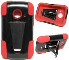 BLACK & RED T-Stand Hybrid Cover Case for ZTE Zinger Z667T