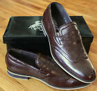 NEW Mens Size 10 Martello Hand Made Leather lined Brown WingTip SHOES Rtl $105