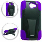 BLACK & PURPLE T-Stand Hybrid Cover for Alcatel One Touch POP ICON A564C