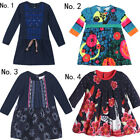 Kids Catimini Babys' Clothing Long Sleeve Flower Dress 1M-6A
