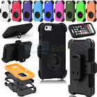 """Wholesale For iPhone 6 4.7"""" Rugged Hybrid Impact Hard Case Soft Cover Holster"""
