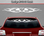 Design #115-01 HEART Tribal Flame Windshield Decal Window Sticker Vinyl Graphic