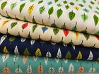 CT Small Leaves Trees 100% Cotton Fabric