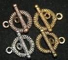 Внешний вид - 10 SETS  DELUXE TOGGLE CLASP 15mm  ANTIQUE STYLE FINDING