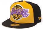 New Era EITR 5 NBA Los Angeles Lakers New Mens Black Yellow Elephant Fitted Cap