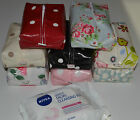 ZIPPED OIL CLOTH FACIAL WIPES CASES MADE IN DESIGNER FABRICS - CATH KIDSTON