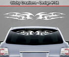 Design #156 Tribal Flame Windshield Decal Back Window Sticker Vinyl Graphic Car