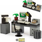 LEGO Office Desk with Computer, Coffee Machine, Chair & accessories