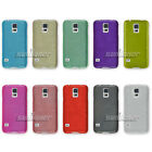 Rubber Gel Brushed Silicone TPU Skin Cover Case for Samsung Galaxy S5 mini,G800F