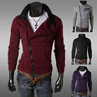 ~~SIDE ZIP SWEATSHIRTS  Men Boy Korean Coat Fashion Outwear Overcoat XS S M L
