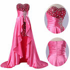 XMAS CHEAP HIGH LOW Bridesmaid Formal Evening Prom Ball Gowns Long Party Dresses