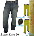 Mens Blue Motorcycle Protective Jeans Full Lined Knitted Kevlar® CE - Size 36