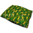 Large or Extra Large Dog/Pet Snuggle Bed Pillow Play Full Green Cover or Filled