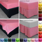 Choose From Poly Cotton Fitted, Valance, Base Valance, Flat Bed Sheet