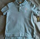Young Boys Ralph Lauren Polo Shirt Blue w/Red Pony - Choose Size