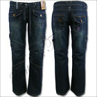 New Womens Ladies Loose Bootcut Cargo Combat Jeans 8 10 12 14 16