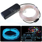 3 Model Flexible Neon Light Glow EL Wire Rope Cable Strip LED Battery Conctoller