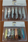 6x26g Silver/Mixed Colour TOBY TOBIX Salmon Pike Lure Spinner Selection,Set of 6