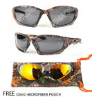 Sports Outdoors Hunting Best Deals - POLARIZED Camouflage Sports Hunting Outdoors Sunglasses Brown And Camo Hard Case