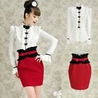 Brand Luxury Victorian Ruffles Blouse Bow Tie Tops Women's Long Sleeve Shirt