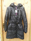 ZELIA BLACK WARM INSULATED PADDED QUILTED SYNTHETIC DOWN COAT XS 6 8 NEW BNWT