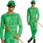 Adults Riddler Fancy Dress Costume - Mens Batman Villain Comic Book Outfit