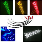 DIY 4PCS Car Led Lamp String Waterproof Flexible Strip Light 30CM Auto Vehicle