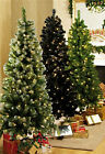 3ft 4ft 5ft 6ft SLIM GREEN FROSTED BLACK PRE LIT CHRISTMAS TREE LED LIGHTS