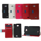 Flip Support Wallet Leather Cover Case For LG Tribute LS660 F60  a