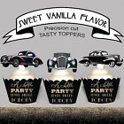 Great Gatsby Party Art Deco EDIBLE wafer 15 Cupcake Toppers PRECUT cup cake