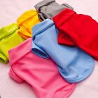 New Cute Pet Dog Candy color Apparel Clothes Clothing Shirt Solid T Shirt S XL