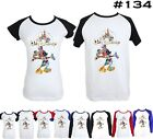 Disney Mickey Mouse Castle Design Pattern Boy's Girl's Couple T Shirt Tee Tops