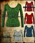 LEOPARD CARDIGAN KNITTED TOP ROCKABILLY PSYCHOBILLY 50S GOTH PUNK TATTOO SZ 8-14