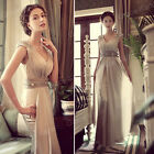 NEW Empire Waist Long Evening Formal Cocktail Party Ball GownProm Women Dresses