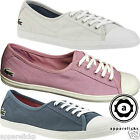 Lacoste Women's Ziane SUM Lace Up Flat Trainers Casual Sports Shoes Canvas Pumps