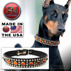 RN Design :: Glass Cab & Swarovski Crystal Dog Collar :: LEATHER :: CUSTOM