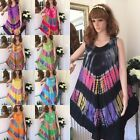 Hippy Boho gypsy Umbrella dress tie die flaired  free posage 8 10 12 14 16 18