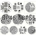 Origional BORN PRETTY 01-55 Nail Art Stamping Printing Template Image Plates New on Rummage