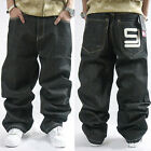 Stylish Men's Casual Pants Street Baggy Jeans Hip-hop Rap Trousers Slack Bottoms