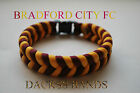 Bradford City FC Bantams 550 Paracord Football Team WristBand Valley Parade