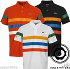 Lacoste Men's Casual T-Shirt Sport-Fit Three Coloured Stripes Polo Shirt L5A