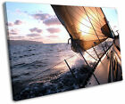 Sail Boat Yacht Sunset Seascape Framed Picture Canvas Wall Art Print