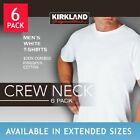 Kirkland Crew Neck Men's Tee White T-shirt 6 pack Tshirt M L XL XXL Brand NEW