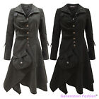 NEW LADIES WOMENS VINTAGE RETRO BOHO HIPPIE LONG BUTTONED COAT JACKET TOP 8-16