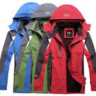 New mens Warm Outdoor jacket hooded winter ski snow jackets parka Red Blue Green