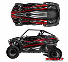 Polaris 800 RZR Burnout Checkered Flag Design Decal Graphic Kit Wraps Graphics