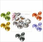 18 Swarovski Vintage Crystal ss29 Chatons 6mm Gold Foil Clear + CHOICE 1100 1012