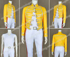 Queen Band Cosplay Lead Vocals Freddie Mercury Costume Yellow Jacket Outwear New