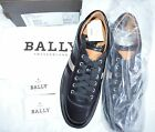 Authentic Bally ORIANO LEATHER SNEAKERS Mens Casual Shoes in Black
