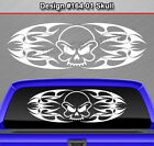 Design #164-01 SKULL Rear Window Decal Sticker Vinyl Graphic Tribal Flame Car